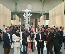 Tehran Ambassador to Paris Bahram Qassemi (5th L) visits Révélations – Fine Craft and Creation Fair – on May 23, 2019.