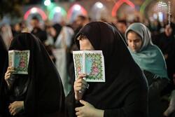 آئین شب قدر در استان سمنان برگزار شد/ مناجات با خدا در شب نور