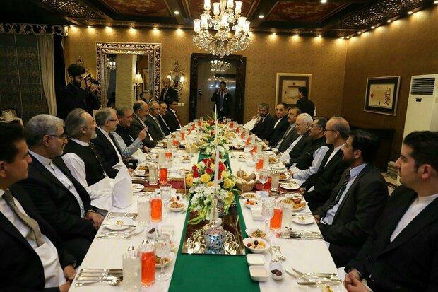 ایرانی وزیر خارجہ کی پاکستانی وزیر خارجہ کی افطار پارٹی میں شرکت