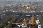 تجمع کربلاییها در حمایت از ایران و محکومیت رفتارهای امریکا