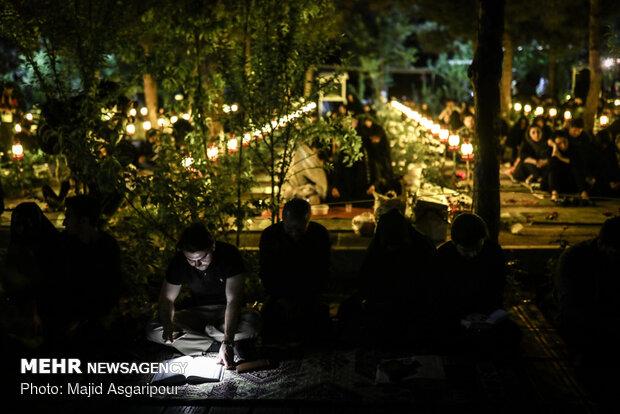 مراسم احیای شب نوزدهم ماه مبارک رمضان در بهشت زهرا(س)