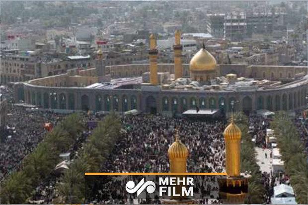 کربلا میں عوام کا ایران کی حمایت اور امریکہ کی مذمت میں عظیم اجتماع