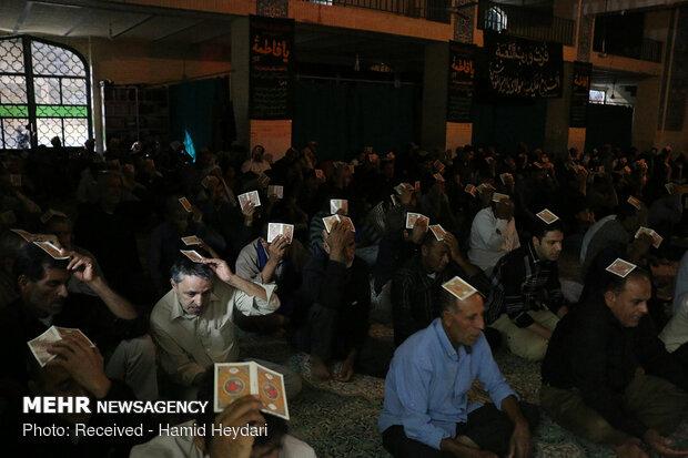 مراسم احیای شب نوزدهم ماه مبارک رمضان در هشت بندی هرمزگان