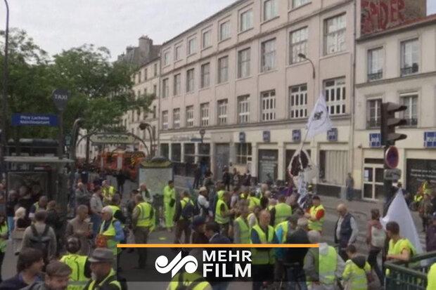 پیرس میں احتجاجی مظاہرے جاری/ 66 افراد گرفتار