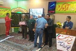 رزمندگان خارگی حاضر در عملیات آزادسازی خرمشهر تجلیل شدند