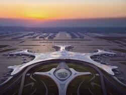 مطار على هيئة حبة ثلج في الصين / صور