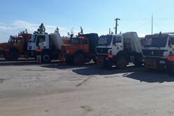 ۱۰ دستگاه کامیون از قزوین به بندر امام خمینی اعزام شد