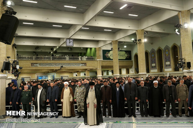 Mourning ceremony for Imam Ali (a.s.) with Ayatollah Khamenei in attendance