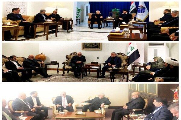 ظریف با سید عمار حکیم، هادی العامری و ایاد علاوی دیدار کرد