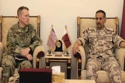دیدار مقامات نظامی قطر و آمریکا