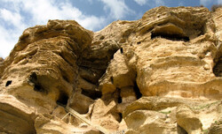 A view of Karaftu Caves in Iran's Kordestan province.