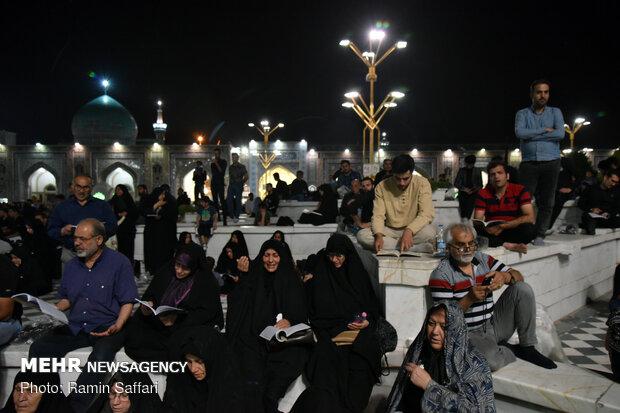 مراسم احیای شب بیست و یکم ماه مبارک رمضان در حرم مطهر امام رضا (ع)