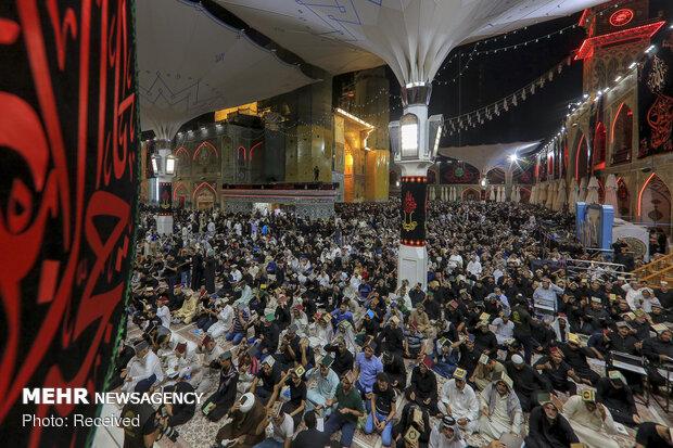 مراسم احیای شب بیست ویکم ماه مبارک رمضان در حرم امام علی (ع)