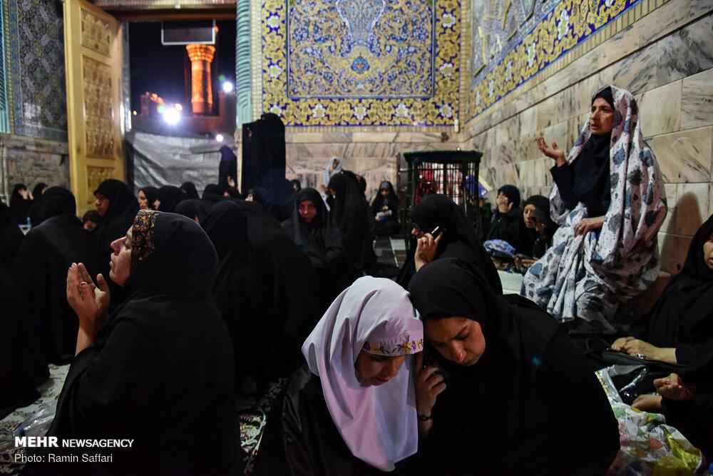 مراسم احیای شب بیست ویکم ماه مبارک رمضان در حرم مطهر امام رضا (ع)