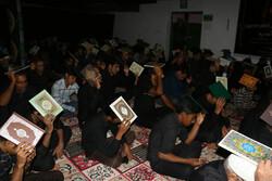 مراسم احیای شب بیست و یکم ماه مبارک رمضان در هشت بندی