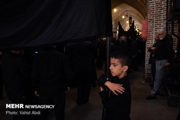 عزاداری شهادت حضرت علی ابن ابیطالب (ع) در بازار تبریز