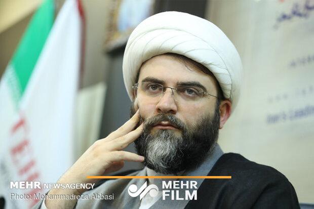 فیلم حضور رئیس سازمان تبلیغات اسلامی در جمع طلاب مهران