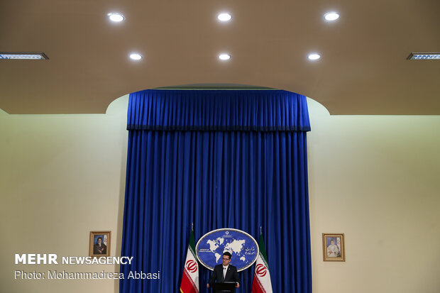 FM spokesman Abbas Mousavi's first presser