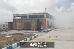 لحظه انفجار کارخانه تولید کننده مواد محترقه در بروجن