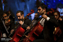 The National Orchestra performs at Shahriar Hall in Tabriz on January 10, 2019. (Mehr/Vahid Abdi)