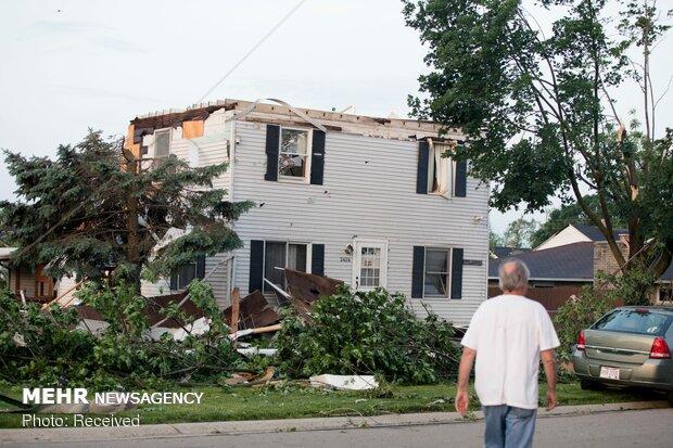 خسارات طوفان در اوهایو