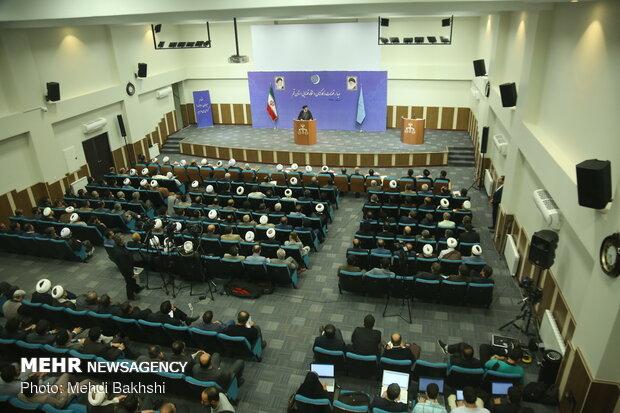 دیدار رییس قوه قضاییه با قضات و کارکنان دستگاه قضایی قم