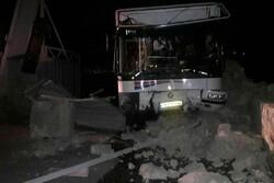 ۱۴ مصدوم بر اثر تصادف اتوبوسی در کرج