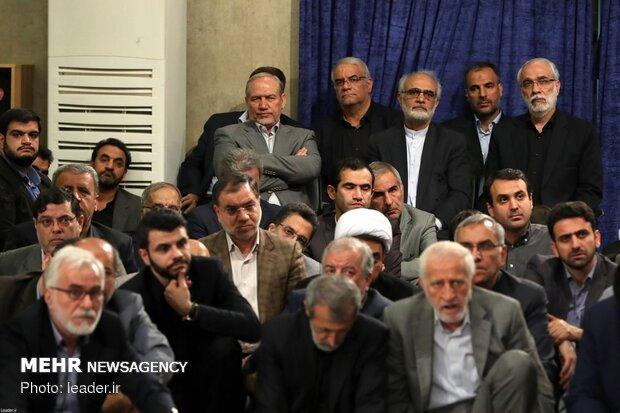 University professors, intellectuals and researchers meeting with Ayatollah Khamenei