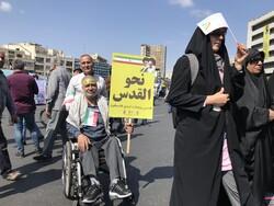 Tahran'daki Kudüs Günü gösterilerinden kareler