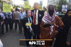 Tahran'daki Kudüs Günü gösterilerinden görüntüler
