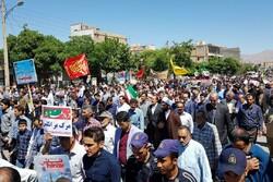 فریاد عدالت خواهی دارالمومنین همدان در حمایت از فلسطین