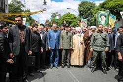 حضور گسترده مردم روزه دار زنجان در راهپیمایی روز قدس