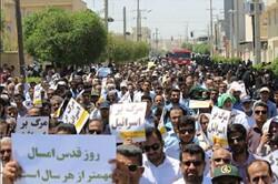 تقدیر از حضور  وحدت آفرین مردم خراسان جنوبی در راهپیمایی روز قدس