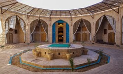 A view of the restored Zein-o-din caravanserai in Yazd province, central Iran.