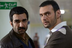 "Reza Akbarpur (L) and Amir-Ali Danai won special mentions for their roles in ""Appendix"" directed by Hossein Namazi."