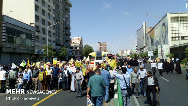 Quds Day rallies in Tehran