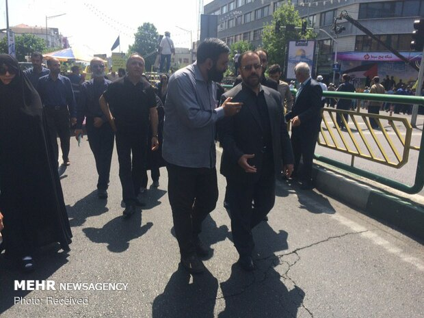 تصاویر ارسالی مخاطبان «مهر» از راهپیمایی روز جهانی قدس