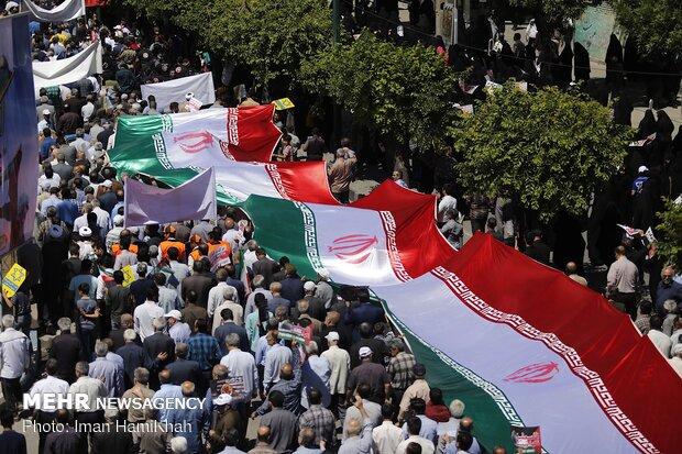 راهپیمایی روز جهان قدس در هرمزگان برگزار شد
