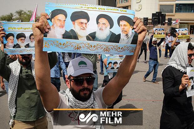 بغداد میں عالمی یوم قدس کی مناسبت سے عظیم الشان ریلی کا اہتمام