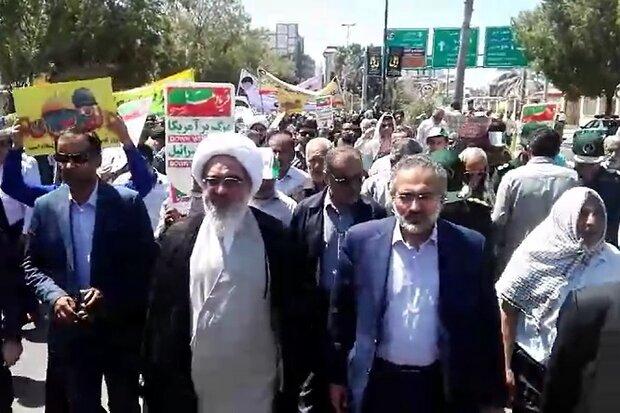 این حضور حماسی مردم در راهپیمایی روز قدس مایه یاس دشمنان است