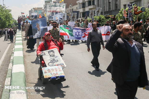 Iranian officials attend Quds Day rallies