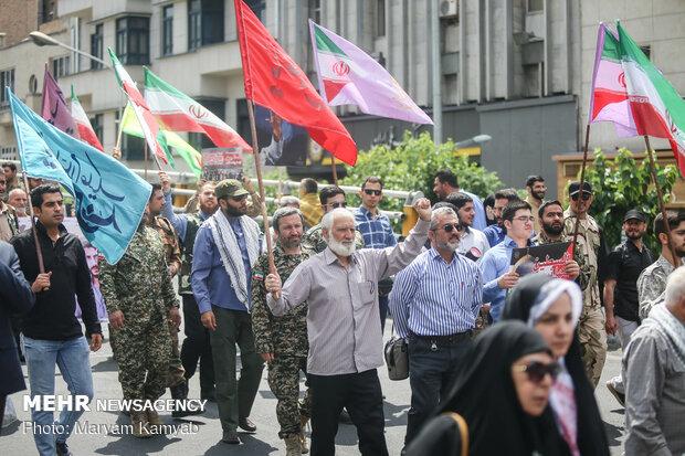 تہران میں عالمی یوم قدس کی مناسبت سے عظیم الشان ریلی