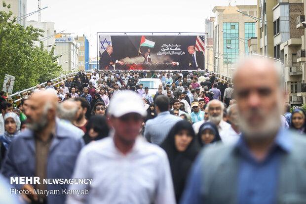 الإيرانيون يشاركون في مسيرات يوم القدس العالمي