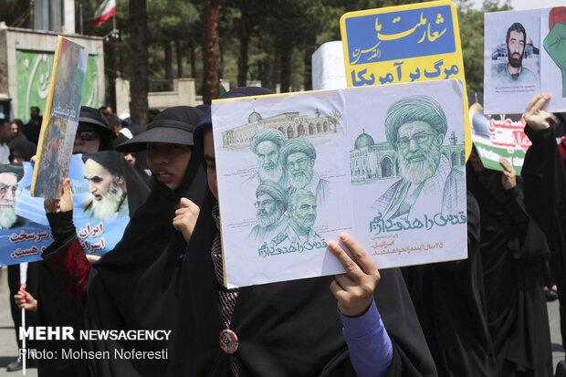 راهپیمایی روز جهانی قدس در بیرجند