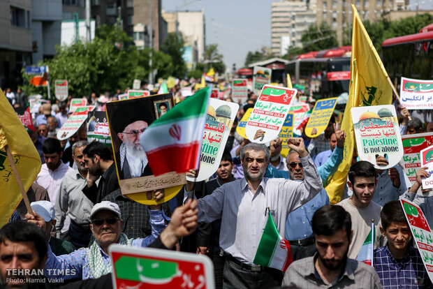 International Quds Day rallies across Iran