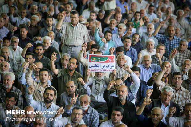 نماز جمعه تهران در روز قدس