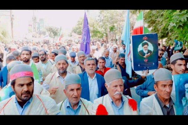 راهپیمایی دشمن شکن روز قدس در یاسوج برگزار شد/ حضور پرشور مردم