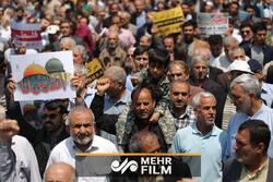 راهپیمایی مردم هشتبندی هرمزگان به روایت تصویر