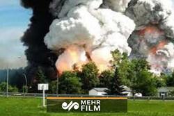 انفجار در یک کارخانه مواد محترقه در روسیه