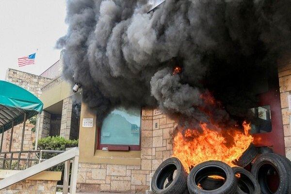 ہنڈوراس میں امریکی سفارتخانہ کو نذر آتش کردیا گیا